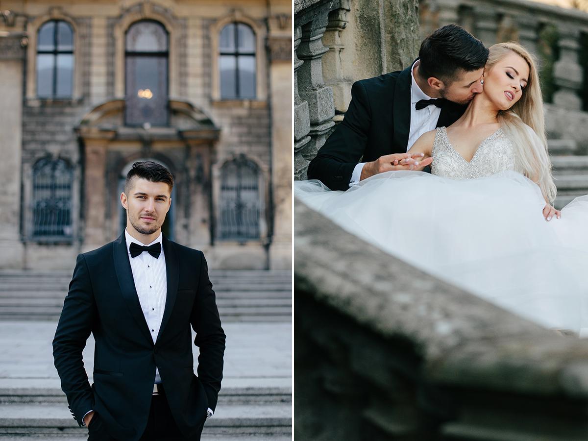 Fotografia ślubna śląsk sesja zamek moszna