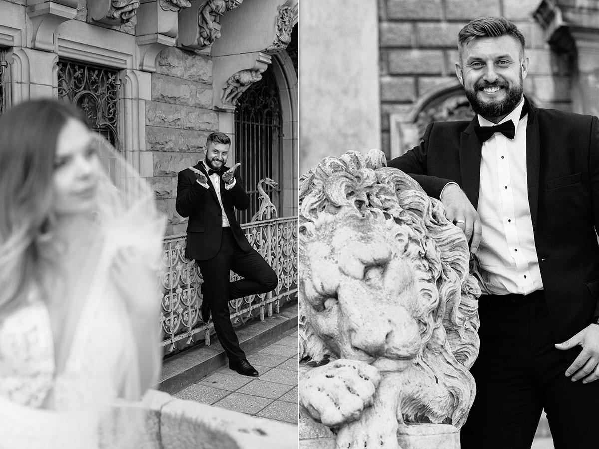 sesja ślubna zamek moszna