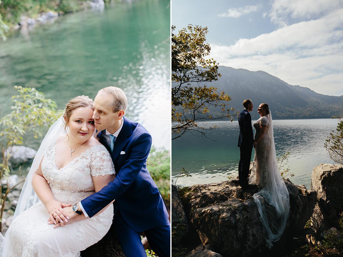 sesja ślubna nad jeziorem Eibsee