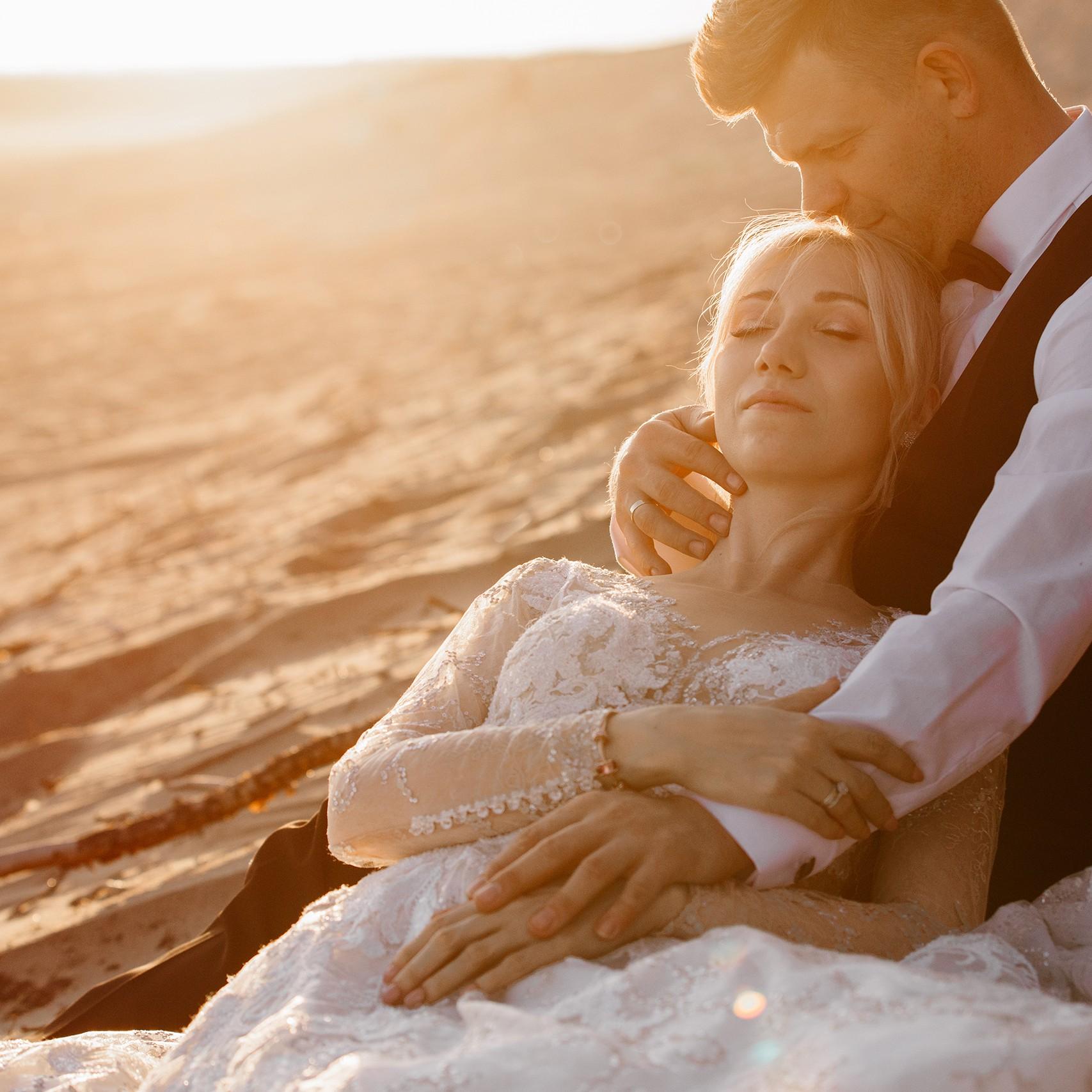 sesja ślubna na pustyni błędowskiej